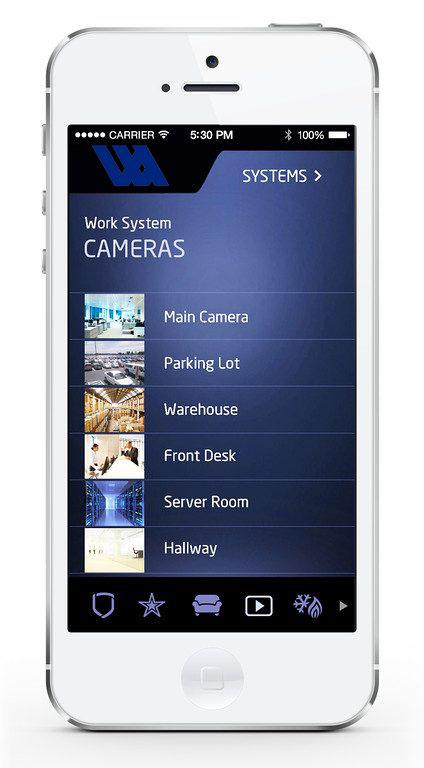 DMP Virtual Keypad App-Cameras Page
